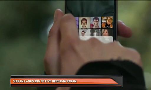 Siaran langsung FB Live bersama rakan