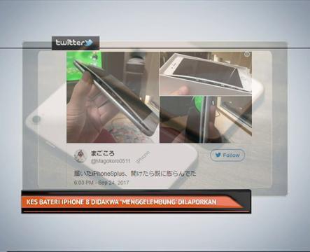 Kes bateri iPhone 8 didakwa 'menggelembung' dilaporkan