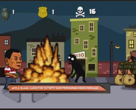 Apple buang karektor Duterte dari permainan video popular