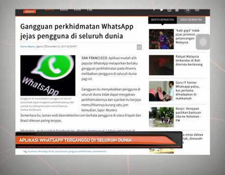 Aplikasi WhatsApp terganggu di seluruh dunia