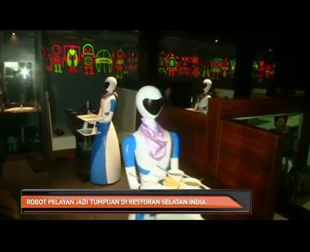 Robot pelayan jadi tumpuan di restoran Selatan India