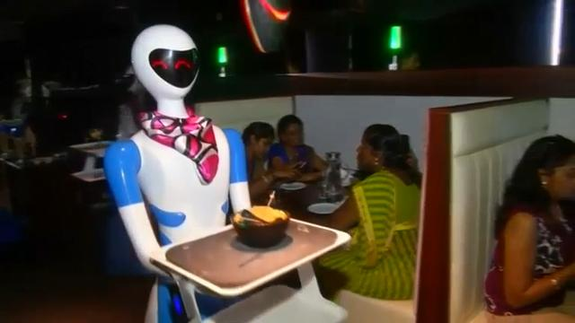 Restaurant in India replaces waiters with robots