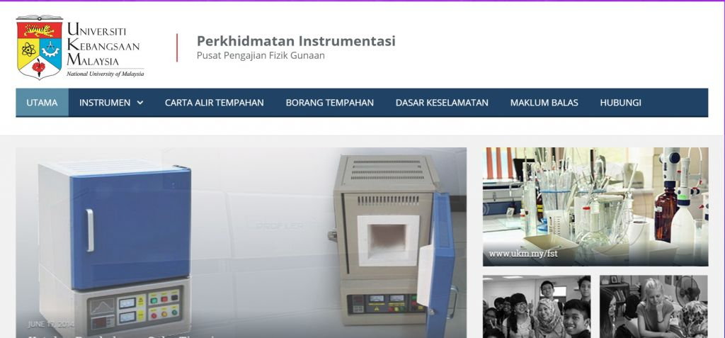 Sistem Tempahan Instrumen | Portfolio Website