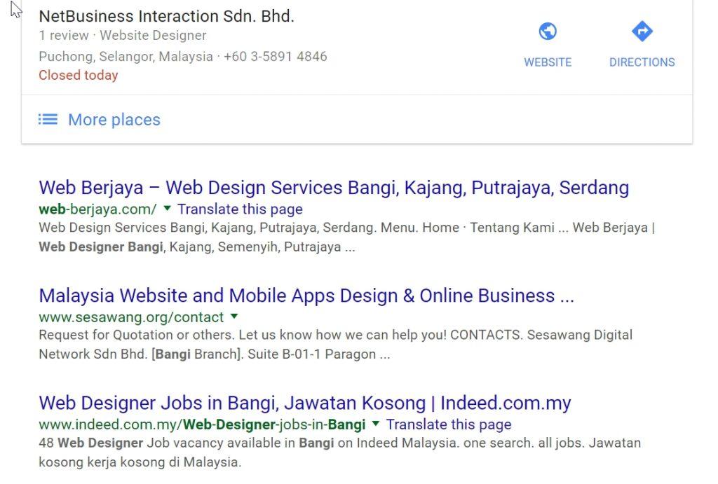 Pangkat-Google-No-1-Web-Designer-Bangi