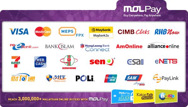 Panduan daftar payment gateway MolPay untuk WordPress