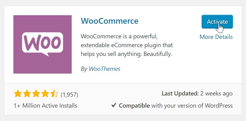 Panduan aktifkan kedai atas talian ke dalam laman web Wordpress