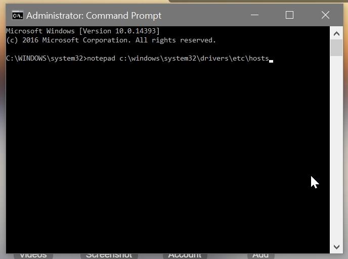 Cara paling cepat buka fail hosts Windows 10 dengan notepad + administrator