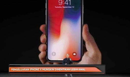Pengeluaran iPhone X mungkin dihentikan lebih awal